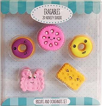 Novedad gomas de borrar galletas y donuts: Amazon.es: Juguetes y juegos