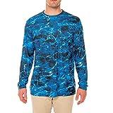 Vapor Apparel Mossy Oak Elements - Marlin Men's UPF 50+ Long Sleeve T-Shirt XXX-Large