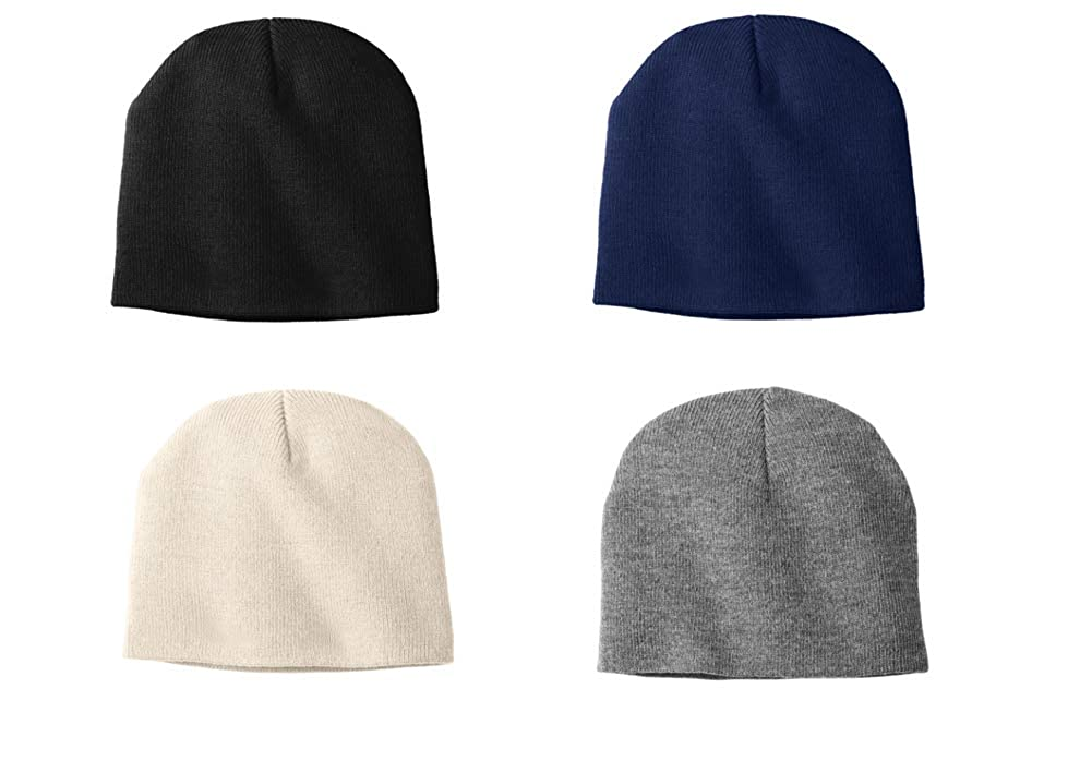 PORT AND COMPANY Women s Winter Knit Hat Four Cap Bundle Black AthOx St NV  at Amazon Women s Clothing store  4259fb519