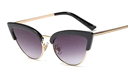 Jnday - Gafas de sol para mujer, marco de metal ...