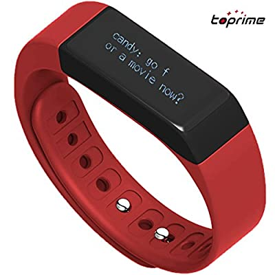 Toprime®Fitness Tracker Wearable Waterproof Smart Band with Multi-Functions