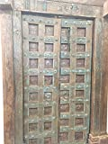 Mogul Antique Doors Floral Patina Vintage Indian Architecture Old Haveli Door Mediterranean Boho Shabby Chic Interiors
