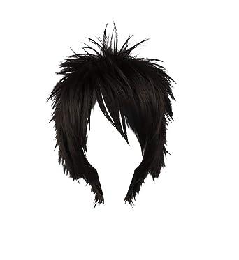 Amazon.com: Mtxc Naruto Cosplay Naruto Uchiha Sasuke peluca ...