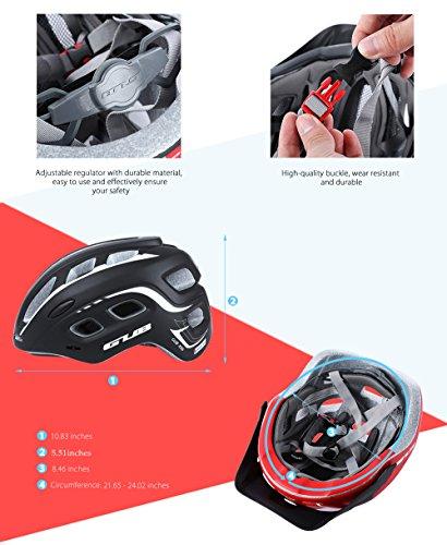 outlife Ultraleggero Unisex 55-61cm Casco Bicicletta Adulto 19 Fori con Visiera (Rosso) 2 spesavip