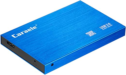 B Baosity 外付けHDD ポータブル ハードディスク 2TB/1TB/500GB 高速 USB 3.0 モバイルディスクドライブ 青色 - 500GB