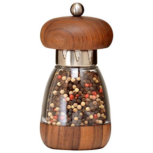 - William Bounds 00183 Mushroom Mill - Pepper Grinder - American Black Walnut Wood and Acrylic