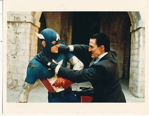 MATT SALINGER/SCOTT PAULIN/CAPTAIN AMERICA (1990)/8X10 COPY PHOTO CC1580 -