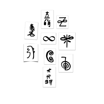 Amazon com : Tattoo Moments Reiki Symbols Pack - Skin Safe