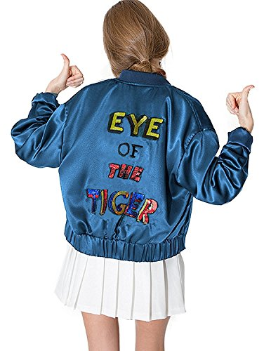 haoduoyi Sequin Embroidered Lightweight Bomber