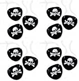 Black Felt Pirate Captain Eye Patches Skull Crossbones for Children Party Favors and Costume Prop (24 Pack)