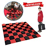 EasyGo Giant Checkers Game – Indoor Outdoor – Family Game – Lawn...