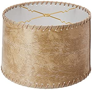 Amazon Com Royal Designs Shallow Drum Lamp Shade Brown