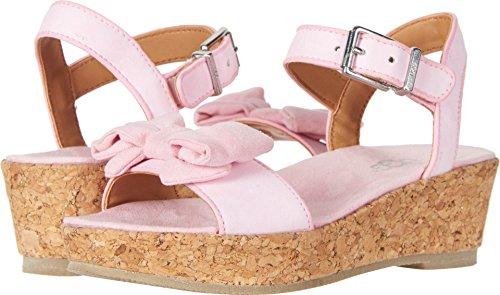 UGG Girls K Milley Bow Wedge Sandal, Seashell Pink, 13 M US Little Kid