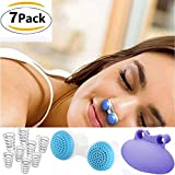 Anti Snoring Device,Soft Silicone 2-in-1 Stop Snoring Solution Nose Vents Clip to Ease Breathing Good Sleep Air Purifier