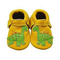 Sayoyo Baby Cute Dinosaur Soft Sole Leather Baby Shoes Baby Moccasins from Sayoyo