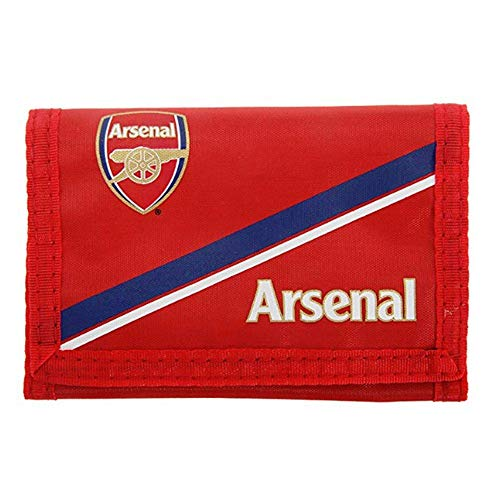 Arsenal Blue Strip Nylon Wallet Official Football Club Crest Fc Gunners Fan Gift
