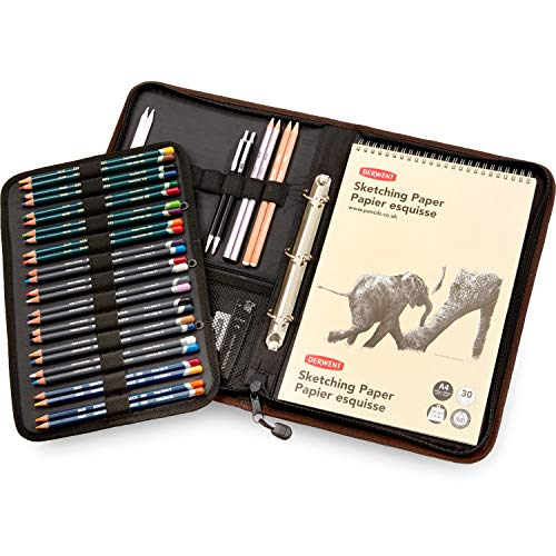 - Derwent Carry-All A4 Folio, for Artist, Drawing Supplies Accessory, Stores 68 Pencils, Beige (2302619)