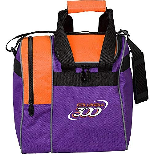 Columbia 300 Bowling Products 300 Team Single Tote-Purple/Orange, Purple/Orange by Columbia