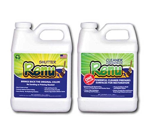Shutter Renu 12-18 Shutter Kit-Shutter Cleaner And Restorer-Restores Original Color & Sheen To Faded Shutters,Plastics,Metal,Fiberglass & More. Eco Friendly. 5X More Powerful Than Any Other ()