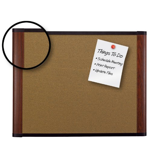 3M Cork Board, 72 x 48-Inches, Widescreen Mahogany-Finish Frame by 3M (Image #1)