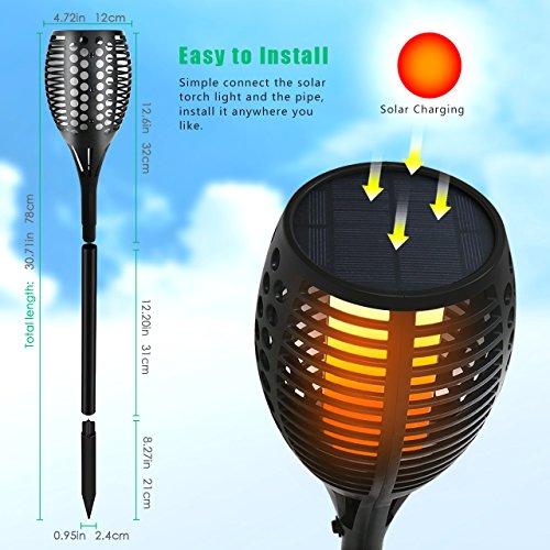Porch Light Flickers When Off: Solar Torch Light,Outdoor Waterproof Flickering Flames
