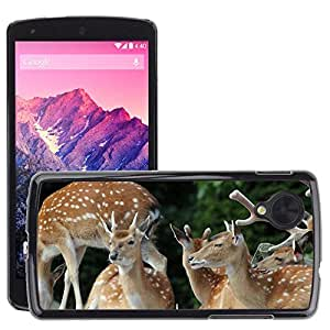 Super Stella Slim PC Hard Case Cover Skin Armor Shell Protection // M00147038 Fallow Deer Paarhufer Deer Antler // LG Nexus 5