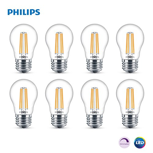 Philips LED Dimmable A15 Light Bulb: 500-Lumen, 5000-Kelvin, 5.5-Watt (60-Watt Equivalent), E26 Base, Clear, Daylight, 8-Pack