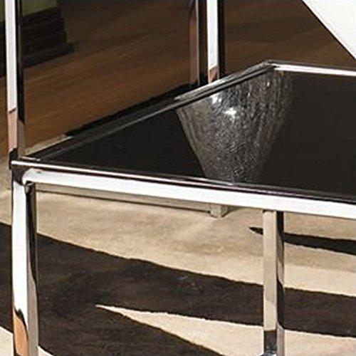Avenue Six Yield Black Glass Top Coffee Table Set
