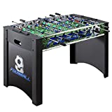 4-Foot Black and Green Foosball Table with 2 Soccer Balls HPSTB4FT by FF Design