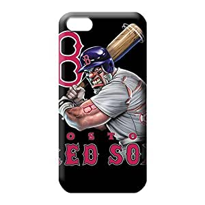 diy zheng Ipod Touch 5 5th Classic shell Compatible pattern cell phone carrying cases boston red sox mlb baseball
