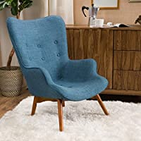 Hariata Fabric Contour Chair - Blue