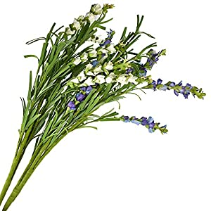Silk Rosemary Flowers