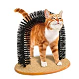 Irispets Arch Cat Groom Self Grooming Cat Toy Cat Self Groomer - Massager and Cat Scratcher