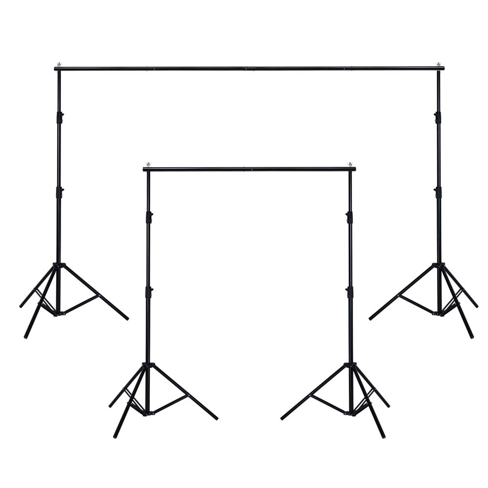 AW 10ft Adjustable Photography Background Support Stand Portable Photo Backdrop Crossbar Kit with Carrying Bag by AW (Image #2)