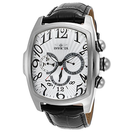 Lupah Leather (Invicta Men's 'Lupah' Swiss Quartz Stainless Steel and Leather Casual Watch, Color:Black (Model: 21499))