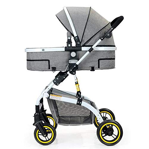 MAGO Baby Stroller Aluminum Alloy Ultra Lightweight Folding Can Sit High Landscape Umbrella Baby Stroller (Color : C)