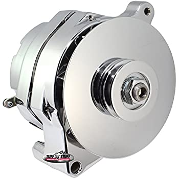 Tuff Stuff 7068RD6G Chrome 1-Wire 6-Groove Pulley Alternator for Ford