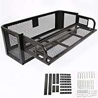 Universal Rear Drop Basket Rack Storage Box Durable Cargo Hunting ATV UTV Rear Drop Rack Steel Strong