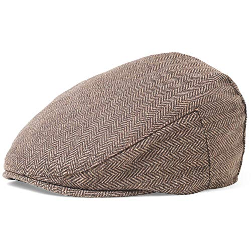 BABEYOND 1920s Gatsby Newsboy Hat Cap for Men Gatsby Hat for Men 1920s Mens Gatsby Costume Accessories (Coffee, -