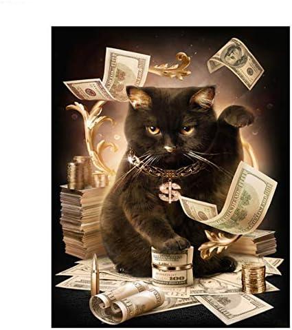 DIY Digital Pintura Por Números Paquete El dólar gatos pintura al ...