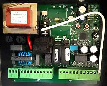 Central maniobras universal para motores de puertas batientes de 1 o 2 hojas CME2