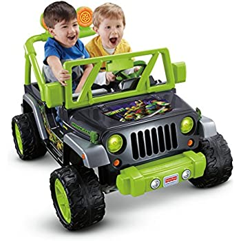 Fisher Price Power Wheels Teenage Mutant Ninja Turtle Jeep Wrangler
