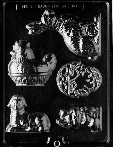 Cybrtrayd Life of the Party E461 Easter Assortment Chocolate Candy Mold in Sealed Protective Poly Bag Imprinted with Copyrighted Cybrtrayd Molding Instructions