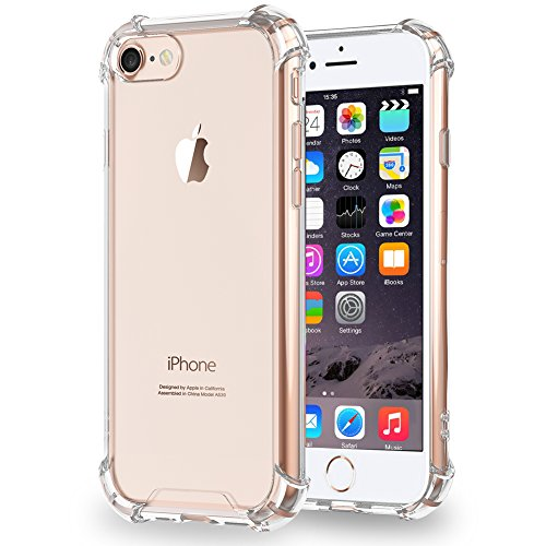 iPhone 7 Case/ iPhone 8 Case SKONYON Clear Backing and Frame TPU with Shockproof Corner 360 Degree Protection for iPhone...  iphone 7 cases   Top 10 Best Looking iPhone 7 Cases! 51BBPA6UIeL