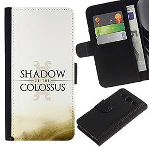 KLONGSHOP // Tirón de la caja Cartera de cuero con ranuras para tarjetas - Shadow Of The C0Lossus - Samsung Galaxy S3 III I9300 //