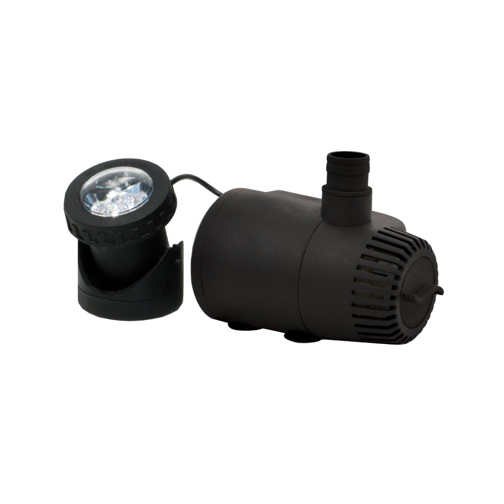 TotalPond 170 GPH Low Water Shut-Off Fountain Pump with Light