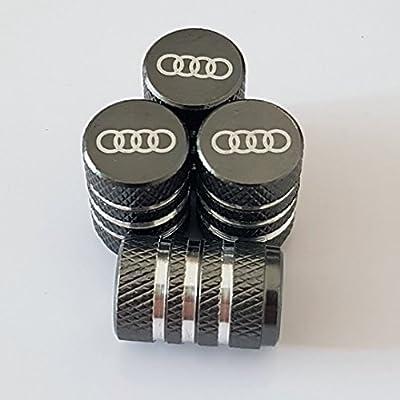 Speed Demons AUDI Black Laser Engraved Valve Dust Caps for all models Cars 2