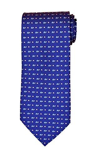 (Salvatore Ferragamo Blue Turtle Silk Neck Tie )