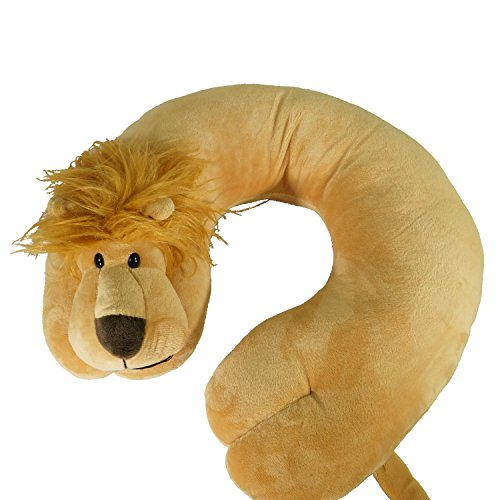 ComfoLUX Animal Neck Travel Pillow for Kids and Adults - Lion - Ginger (Lion Neck Pillow)