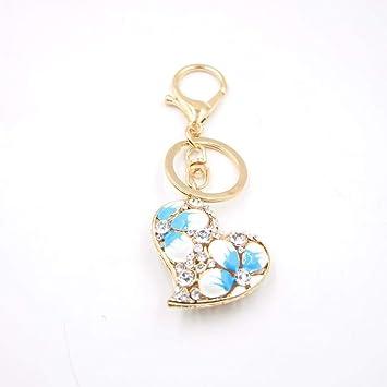 Yunfeng Lindo Llavero Set pequeño Diamante Amor Llavero ...